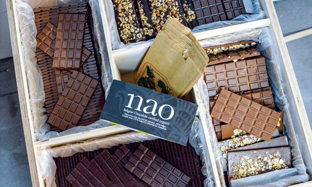 Nao, de pure smaak van biologische chocolade in bulk