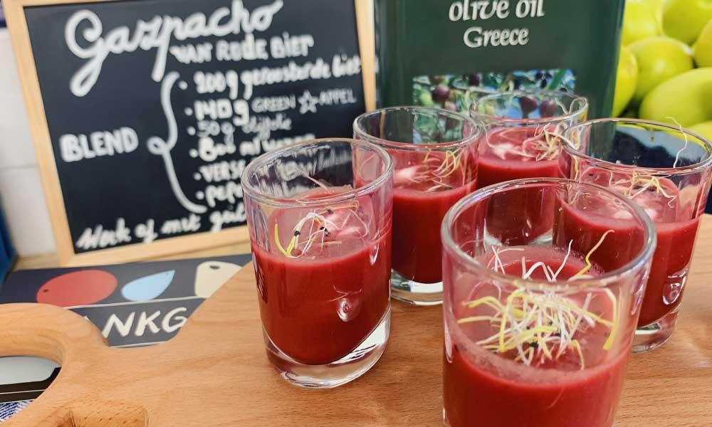 Gazpacho van rode biet