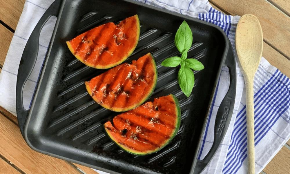 Gegrilde watermeloen met gerookt paprikapoeder