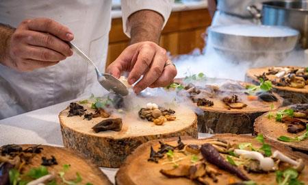 Recept voor pasta met champignons en vegan roomsaus