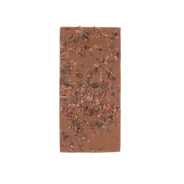 Melkchocolade met cacaonibs (0,090 kg)