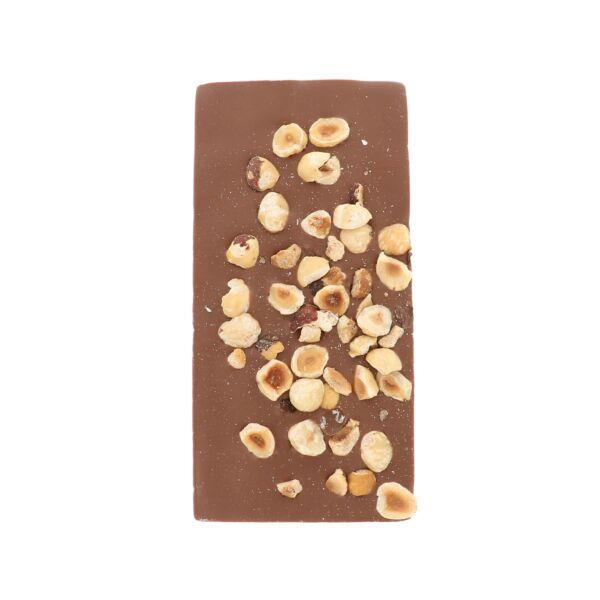 Melkchocolade met hazelnoten (0,090 kg)