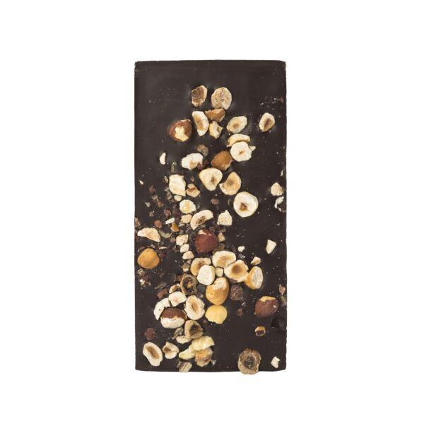 Pure chocolade met hazelnoten (0,090 kg)