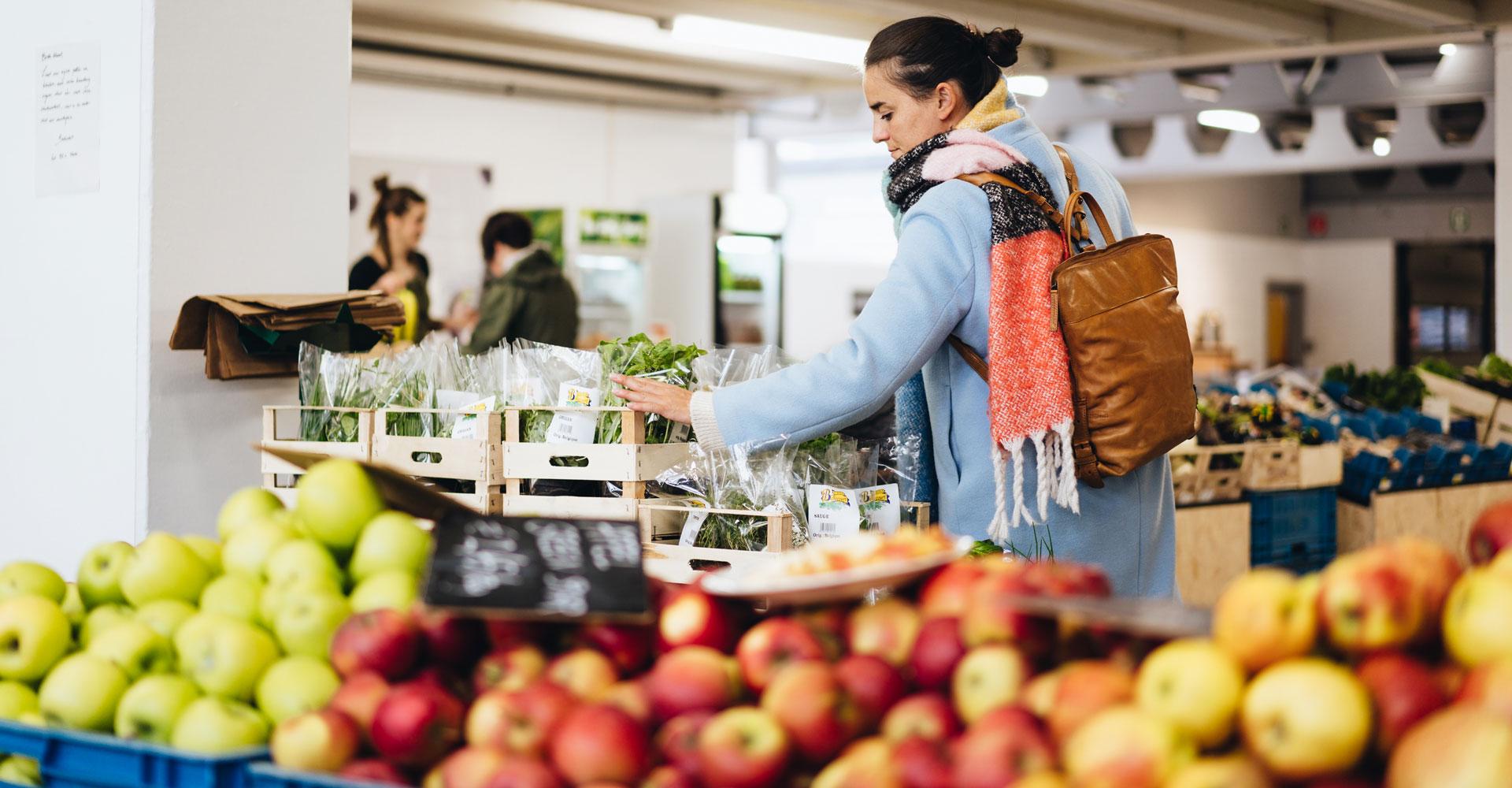 Shop biologisch fruit bij BE O Markt