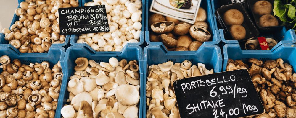 bio champignons biomarkt Antwerpen